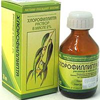 Особенности полоскания горла хлорофиллиптом.