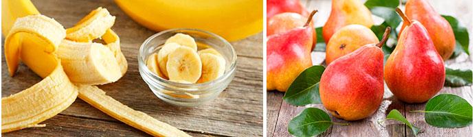 польза груши и банана для желудка