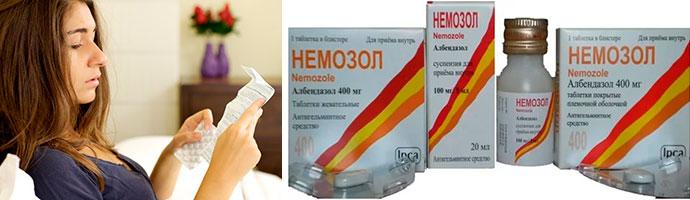 как правильно пить Немозол для избавления от паразитов
