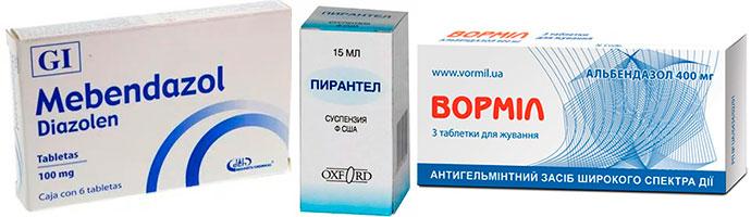 лекарства для профилактики гельминтоза