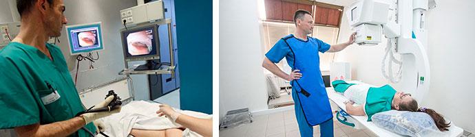 обследование кишечника эндоскопом и рентгеном