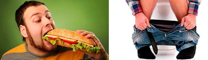 почему после еды появляется понос