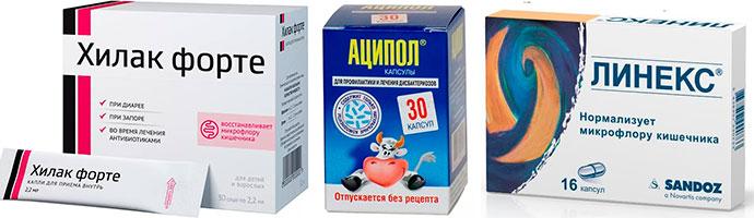 препараты для устранения дисбактериоза