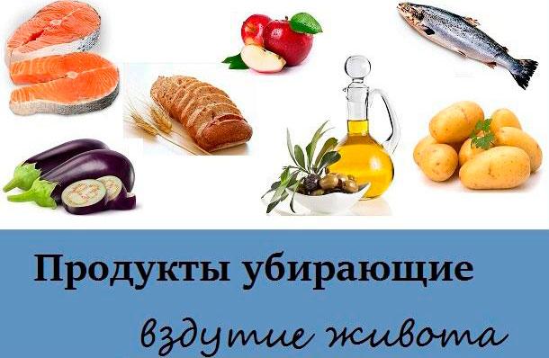 продукты, убирающие вздутие