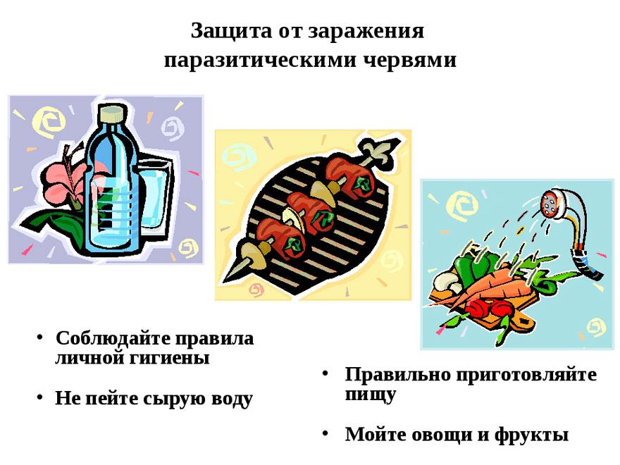 профилактика заражения паразитами