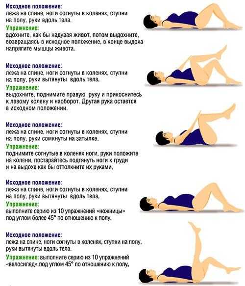 упражнения для беременных от вздутия