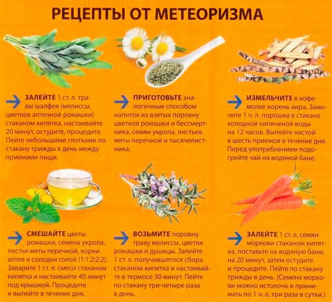средства народной медицины от метеоризма