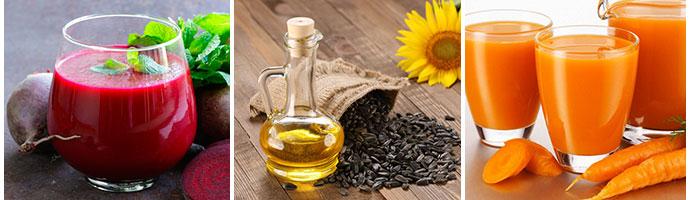 масло с соками от запора
