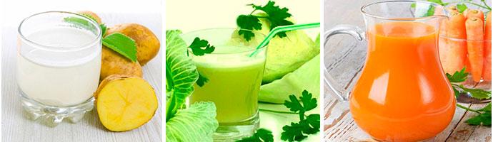 соки для лечения желудка